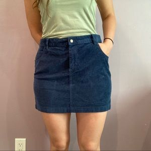 BDG Urban Outfitters Blue Corduroy Skirt
